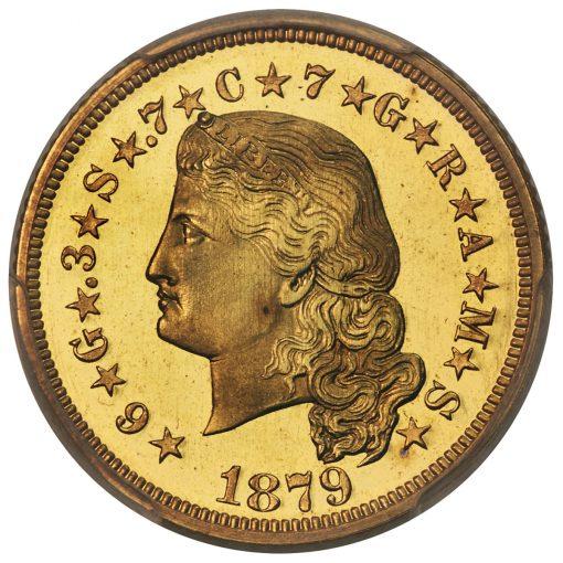 1879 $4 Flowing Hair, Judd-1635, Pollock-1833, JD-1, R.3, PR66 Cameo PCGS - Obverse