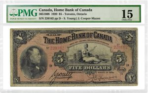 PMG Certifies 1920 Home of Bank of Canada $5 Note
