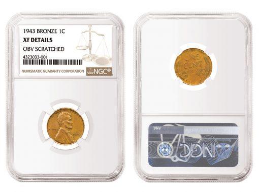 1943 1C Bronze NGC XF Details