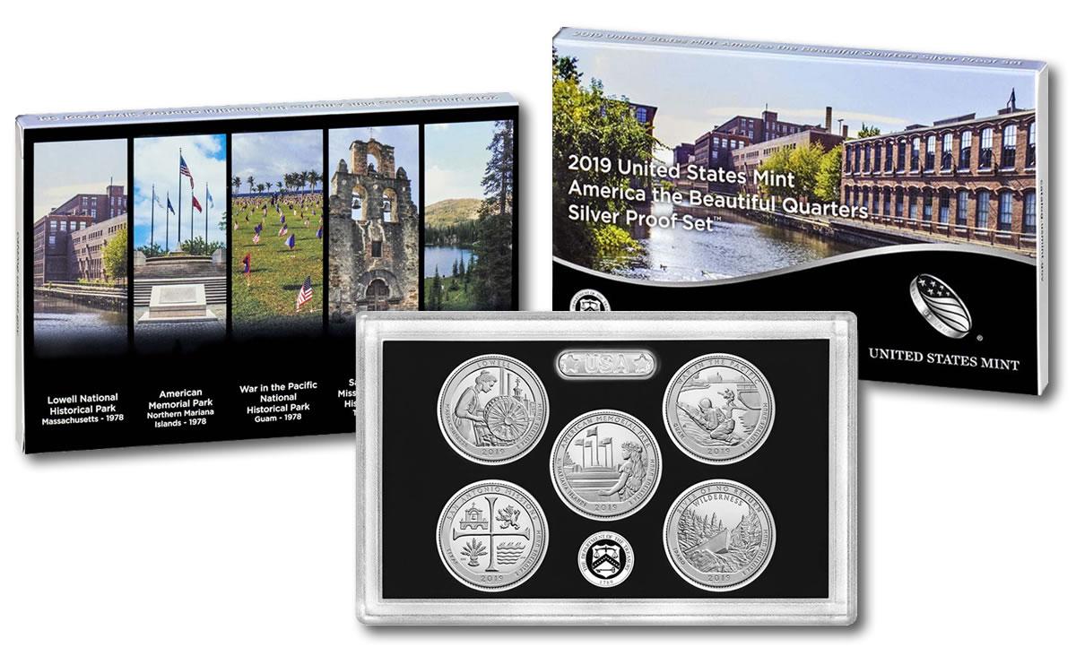 U S  Mint 2019 Quarters Proof Set Features  999 Fine Silver