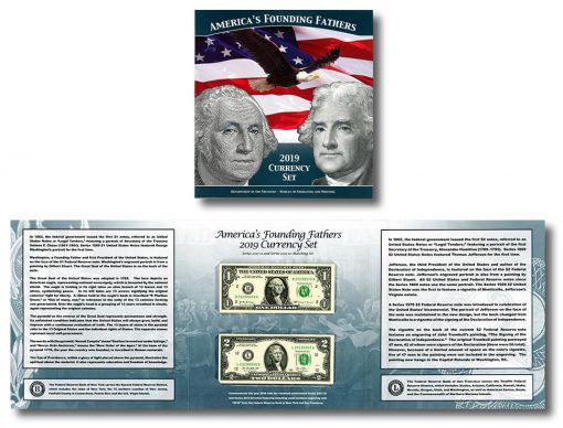 2019 America's Founding Fathers Currency Set