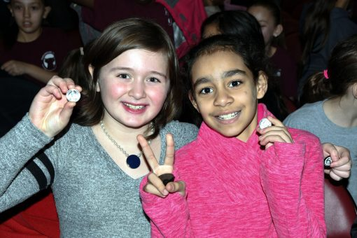 Fourth Graders at Lowell quarter ceremony receive free coin