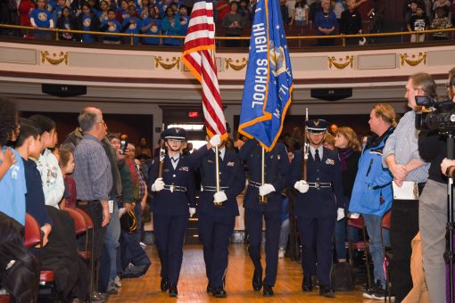 Lowell High School JROTC Honor Guard
