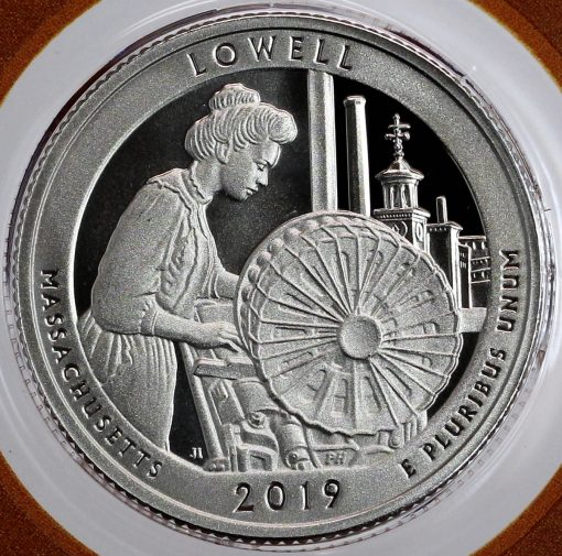 Lowell National Historical Park Quarter - Reverse