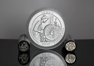 US Mint Sales: Lowell Quarters and 5 Oz. Coin Debut