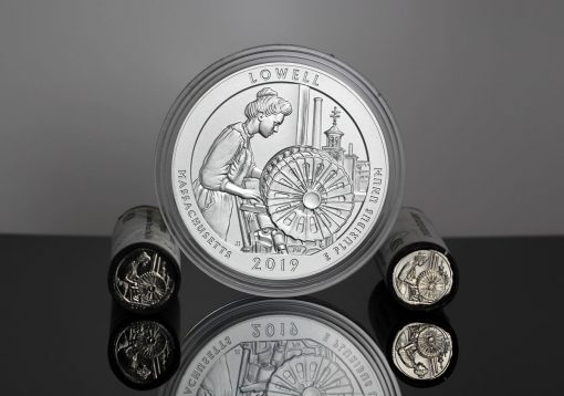 Lowell National Historical Park quarters and 5-ounce silver coin