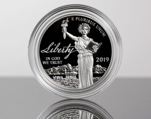 Photo of a 2019-W Proof American Platinum Eagle - Obverse
