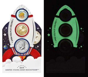 U.S. Mint Launches Glow-In-The-Dark Rocketship For Young Collectors