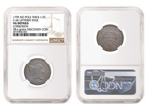 NGC Authenticates New 1795 Half Cent Variety