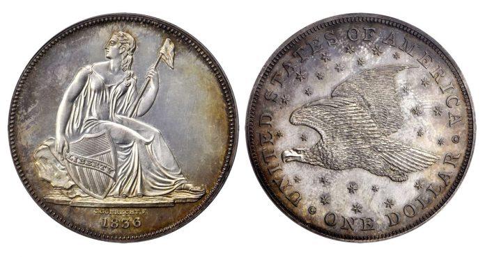 1836 Gobrecht Silver Dollar