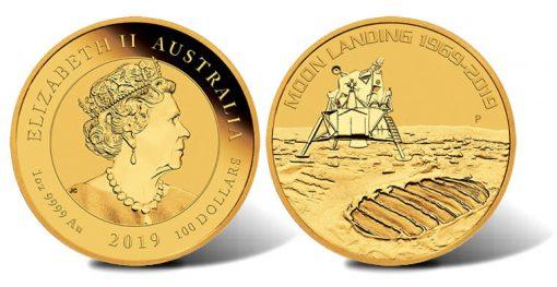 2019 50th Anniversary of the Moon Landing 1oz Gold Bullion Coin