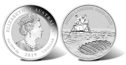 2019 50th Anniversary of the Moon Landing 1oz Silver Bullion Coin