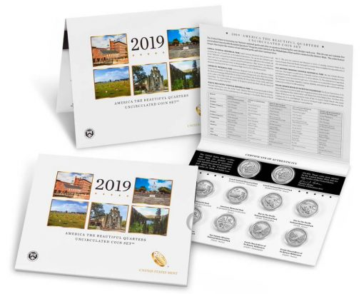 2019 America the Beautiful Quarters Uncirculated Coin Set