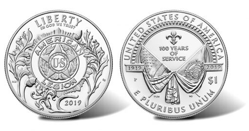 2019-P Proof American Legion 100th Anniversary Silver Dollar