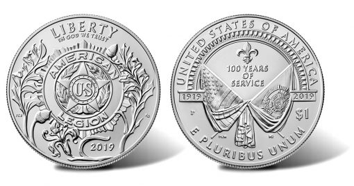 2019-P Uncirculated American Legion 100th Anniversary Silver Dollar