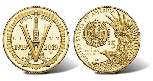 2019-W $5 Proof American Legion 100th Anniversary Gold Coin