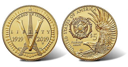 2019-W $5 Uncirculated American Legion 100th Anniversary Gold Coin