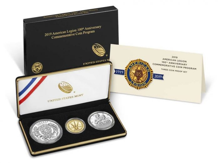 American Legion 100th Anniversary 2019 Three-Coin Proof Set