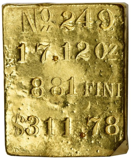 Kellogg & Humbert Gold Ingot No. 249