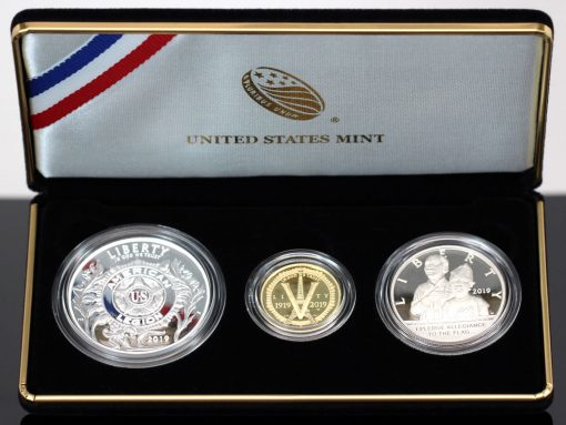 Photo of American Legion 100th Anniversary 2019 Three-Coin Proof Set