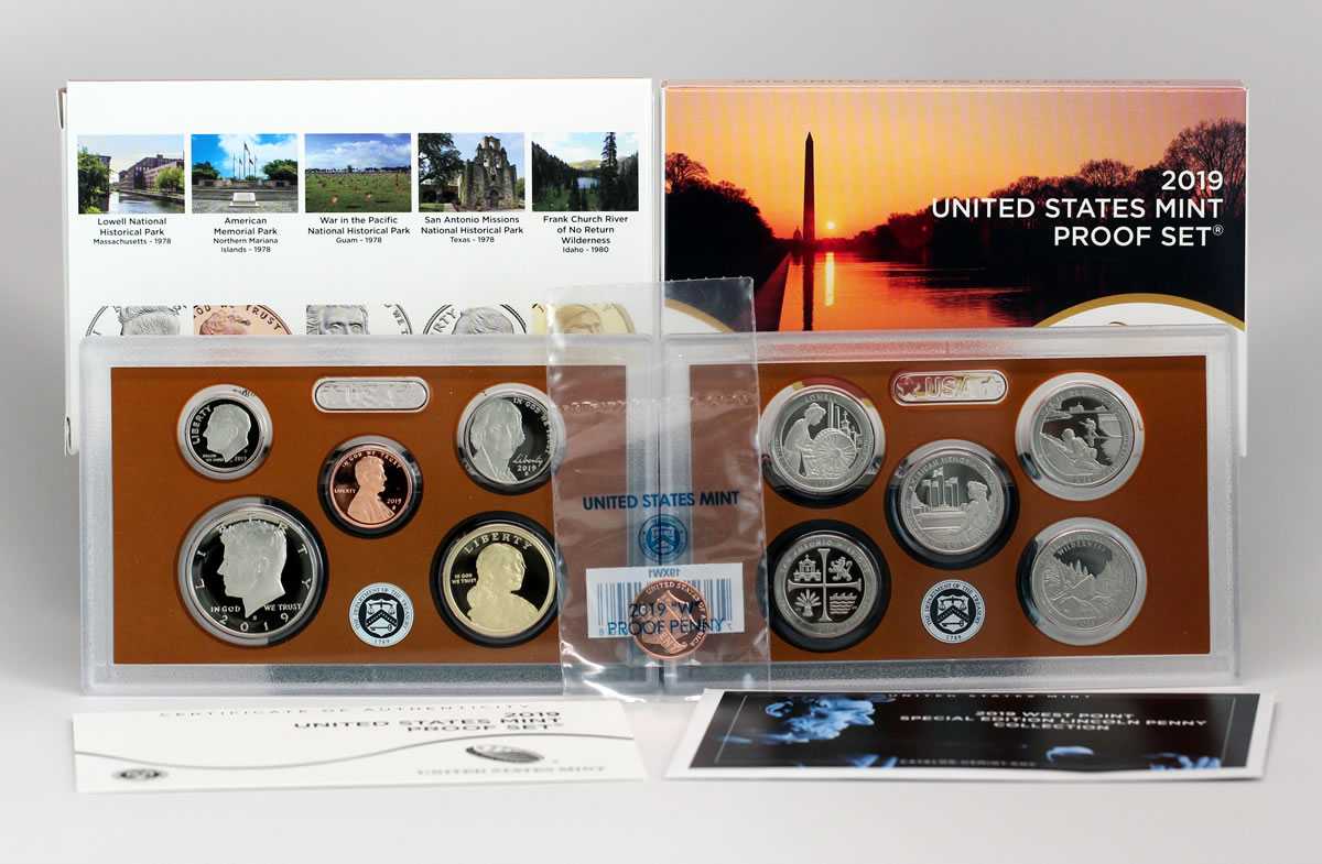 W Reverse Penny 2019 S US Mint ANNUAL SILVER 11 Coin Proof Set with Box COA