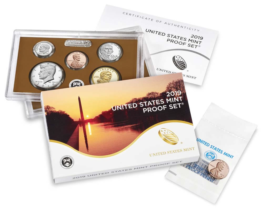 No W Cent 2019 US Mint Annual Uncirculated Coin Set Same Day Shipping!!