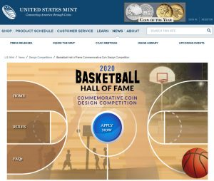 Design Competition for U.S. Basketball Commemorative Coins