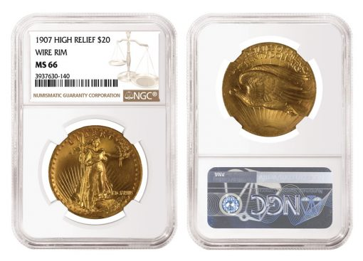 1907 $20 High Relief Saint-Gaudens Double Eagle