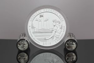 US Mint Sales: American Memorial Park Quarters and 5 Oz. Coin Debut
