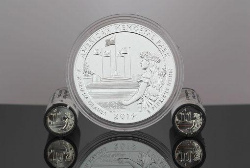 2019 American Memorial Park quarters 5-ounce silver coin