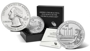 2019-P American Memorial Park 5 Oz Silver Uncirculated Coin Released