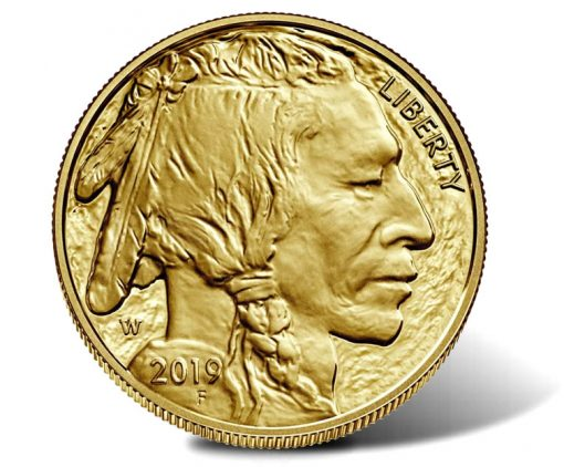 2019-W $50 Proof American Buffalo Gold Coin - Obverse