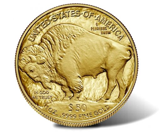 2019-W $50 Proof American Buffalo Gold Coin - Reverse