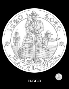 2020 Mayflower Gold Coin Candidate Design 01-GC-O