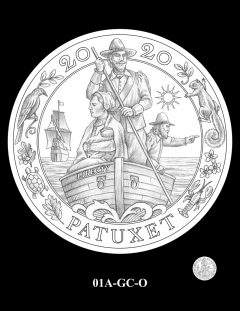 2020 Mayflower Gold Coin Candidate Design 01A-GC-O