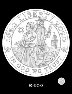 2020 Mayflower Gold Coin Candidate Design 02-GC-O