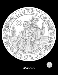 2020 Mayflower Gold Coin Candidate Design 03-GC-O