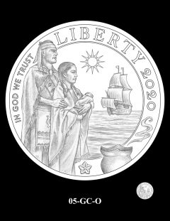 2020 Mayflower Gold Coin Candidate Design 05-GC-O