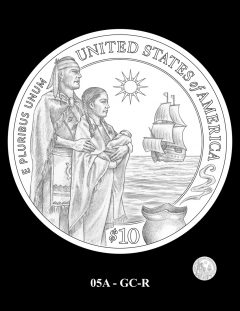 2020 Mayflower Gold Coin Candidate Design 05A-GC-R