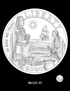 2020 Mayflower Gold Coin Candidate Design 06-GC-O