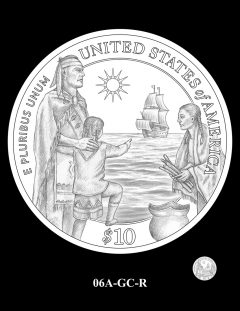 2020 Mayflower Gold Coin Candidate Design 06A-GC-R