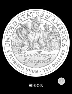 2020 Mayflower Gold Coin Candidate Design 08-GC-R