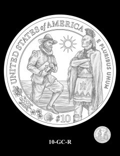 2020 Mayflower Gold Coin Candidate Design 10-GC-R