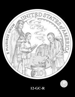 2020 Mayflower Gold Coin Candidate Design 12-GC-R