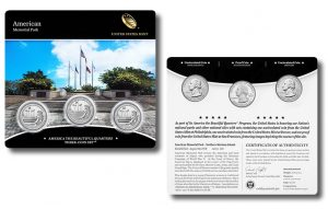 American Memorial Park Quarters in Three-Coin Set