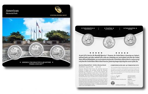 American Memorial Park Quarter Three-Coin Set