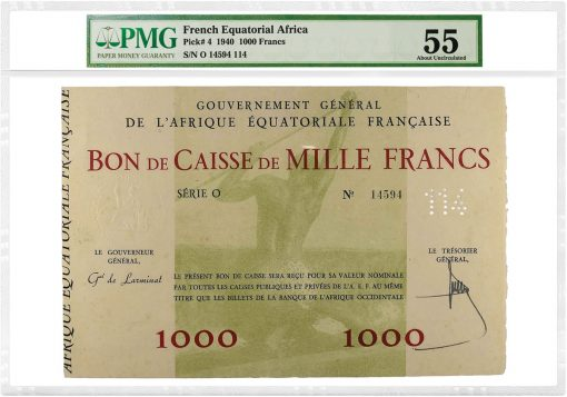 French Equatorial Africa 1940 1,000 Francs