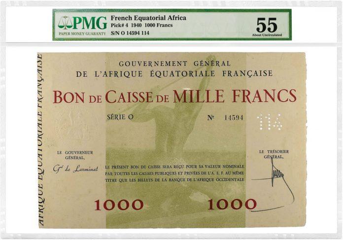 French Equatorial Africa 1940 1,000 Francs