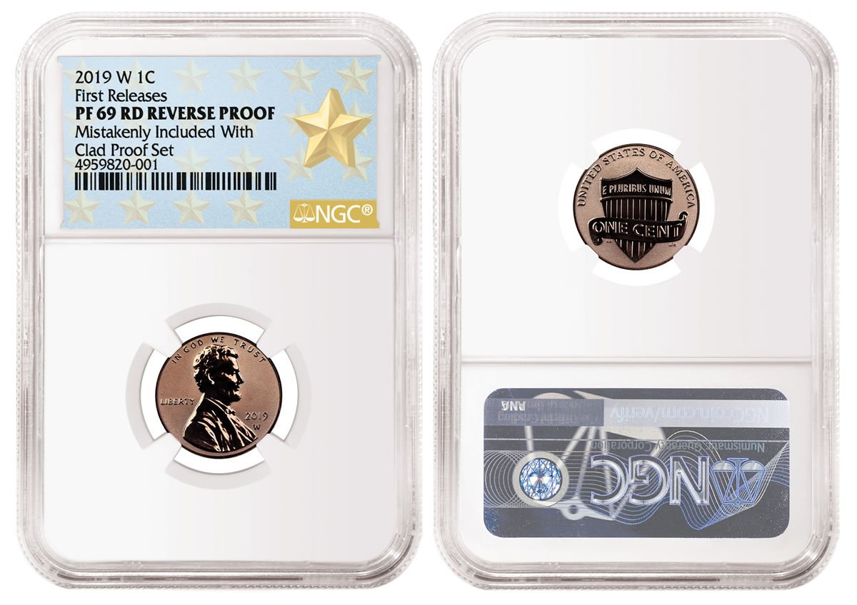 LOW PRICE! 2019 US Silver Proof Coin Set and 2019-W Reverse Proof Lincoln Cent