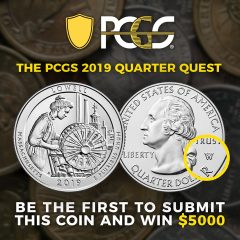 PCGS Offers $5,000 Reward For First 2019-W Lowell Quarter Submitted